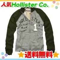 ホリスター【送料無料】ダメージ加工トラックジャケット☆Hollister Co.:Royal Palms-GRY☆秋冬メンズ♪