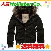 ホリスター【送料無料】ファー付パーカージャケット☆Hollister Co.:Silver Strand-DG☆冬物メンズ♪
