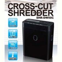 家庭用クロスカットシュレッダー 電動シュレッダー A4用紙対応 電動裁断機 オーバーヒート自動停止機能付