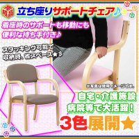 サポートチェア ダイニング スタッキングチェア アームチェア  完成品 肘掛け 椅子 肘付き 介護椅子 補助椅子  3色展開