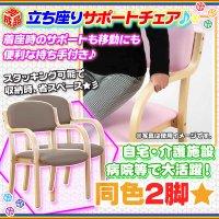サポートチェア ダイニング スタッキングチェア アームチェア  完成品 肘掛け 椅子 肘付き 介護椅子 補助椅子  同色2脚セット