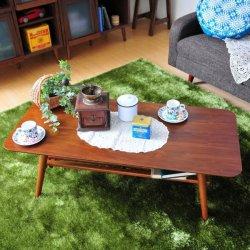 折り畳み 棚付センターテーブル 幅110cm テーブル 食卓  ローテーブル リビングテーブル 座卓  天然木製