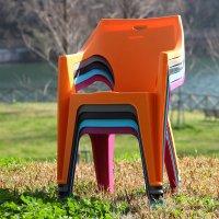 ガーデンチェア スタッキングチェア 屋外チェア アウトドア  ガーデン用イス モダン 椅子 チェア  同色4脚セット