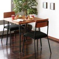 ダイニングセット 2人用 3点セット カフェテーブル 椅子  テーブル 幅78cm チェア 2脚 モダン  食卓セット