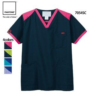 《男女兼用》パントーン カラーブロック スクラブ(FOLK/PANTONE)7054SC