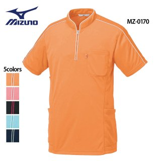 《男女兼用》パイピング ニットシャツ(MIZUNO/ミズノ)MZ-0170|スクラブ・白衣(ナース服・看護服)などのメディカルウェア・ユニフォーム・ワーキングウェアの通販【スターク】