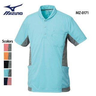《男女兼用》襟付き ニットシャツ(MIZUNO/ミズノ)MZ-0171|スクラブ・白衣(ナース服・看護服)などのメディカルウェア・ユニフォーム・ワーキングウェアの通販【スターク】