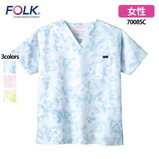 《レディース》花柄スクラブ(FOLK)|スクラブ・白衣(ナース服・看護服)などのメディカルウェア・ユニフォーム・ワーキングウェアの通販【スターク】