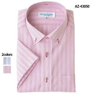 《メンズ》半袖ボタンダウンシャツ(AITOZ)|スクラブ・白衣(ナース服・看護服)などのメディカルウェア・ユニフォーム・ワーキングウェアの通販【スターク】