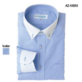 《メンズ》長袖クレリックボタンダウンシャツ(AITOZ)|スクラブ・白衣(ナース服・看護服)などのメディカルウェア・ユニフォーム・ワーキングウェアの通販【スターク】