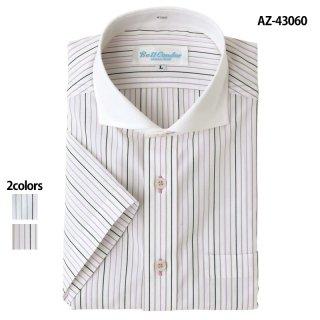 《メンズ》半袖クレリックワイドシャツ(AITOZ)|スクラブ・白衣(ナース服・看護服)などのメディカルウェア・ユニフォーム・ワーキングウェアの通販【スターク】