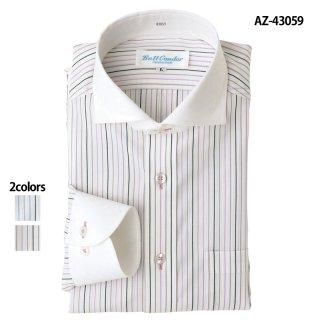 《メンズ》長袖クレリックワイドシャツ(AITOZ)|スクラブ・白衣(ナース服・看護服)などのメディカルウェア・ユニフォーム・ワーキングウェアの通販【スターク】