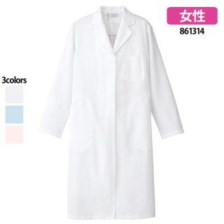 《レディース》診察衣シングル(Lumiere)861314|スクラブ・白衣(ナース服・看護服)などのメディカルウェア・ユニフォーム・ワーキングウェアの通販【スターク】