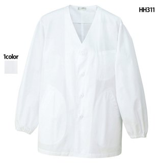 《メンズ》衿なし調理着(AITOZ)|スクラブ・白衣(ナース服・看護服)などのメディカルウェア・ユニフォーム・ワーキングウェアの通販【スターク】