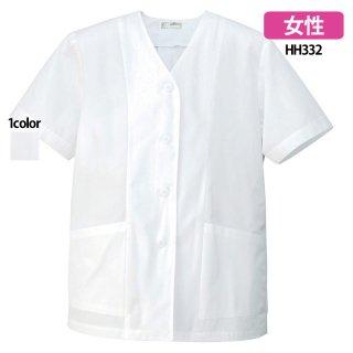 《レディース》衿なし半袖調理着(AITOZ)|スクラブ・白衣(ナース服・看護服)などのメディカルウェア・ユニフォーム・ワーキングウェアの通販【スターク】