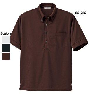 《メンズ》半袖ニットボタンダウンシャツ(AITOZ)|スクラブ・白衣(ナース服・看護服)などのメディカルウェア・ユニフォーム・ワーキングウェアの通販【スターク】