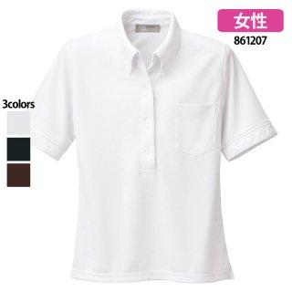 《レディース》半袖ニットボタンダウンシャツ(AITOZ)|スクラブ・白衣(ナース服・看護服)などのメディカルウェア・ユニフォーム・ワーキングウェアの通販【スターク】
