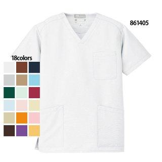《男女兼用》ストレッチギャバ スクラブ(Lumiere/AITOZ)861405|スクラブ・白衣(ナース服・看護服)などのメディカルウェア・ユニフォーム・ワーキングウェアの通販【スターク】