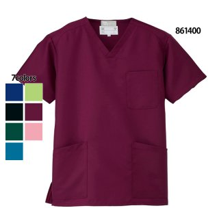 《男女兼用》エコスクラブ(Lumiere/AITOZ)861400|スクラブ・白衣(ナース服・看護服)などのメディカルウェア・ユニフォーム・ワーキングウェアの通販【スターク】