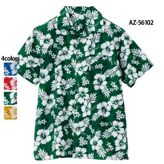 《男女兼用》アロハシャツ(ハイビスカス)(AITOZ)|スクラブ・白衣(ナース服・看護服)などのメディカルウェア・ユニフォーム・ワーキングウェアの通販【スターク】