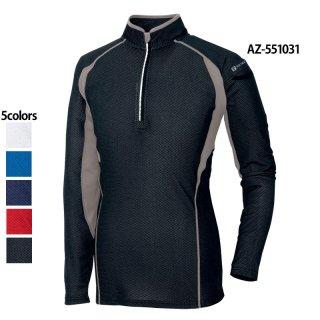 接触冷感ハーフZIP長袖シャツ(TULTEX)|スクラブ・白衣(ナース服・看護服)などのメディカルウェア・ユニフォーム・ワーキングウェアの通販【スターク】