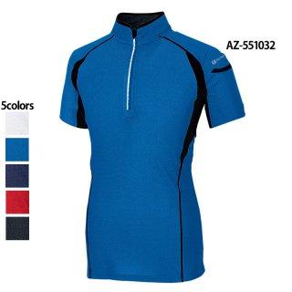接触冷感ハーフZIP半袖シャツ(TULTEX)|スクラブ・白衣(ナース服・看護服)などのメディカルウェア・ユニフォーム・ワーキングウェアの通販【スターク】