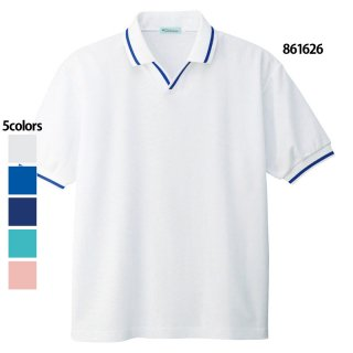 《男女兼用》半袖スキッパーポロシャツ(AITOZ)|スクラブ・白衣(ナース服・看護服)などのメディカルウェア・ユニフォーム・ワーキングウェアの通販【スターク】