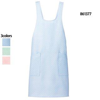 《男女兼用》ドットエプロン(Lumiere)861377|スクラブ・白衣(ナース服・看護服)などのメディカルウェア・ユニフォーム・ワーキングウェアの通販【スターク】