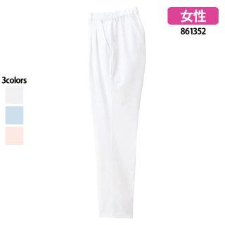 《レディース》後シャーリングパンツ(Lumiere)|スクラブ・白衣(ナース服・看護服)などのメディカルウェア・ユニフォーム・ワーキングウェアの通販【スターク】