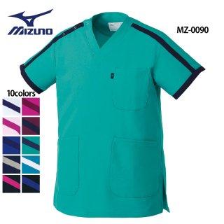 《男女兼用》ライン スクラブ(MIZUNO/ミズノ)MZ-0090|スクラブ・白衣(ナース服・看護服)などのメディカルウェア・ユニフォーム・ワーキングウェアの通販【スターク】