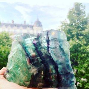 パリで祈り【フローライト原石小】奇跡のメダイ付き