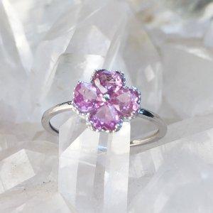 ミュンヘンで祈り【ピンクサファイアプラチナ指輪】天使さま付き