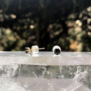【ブラックダイヤモンド18K】ピアス