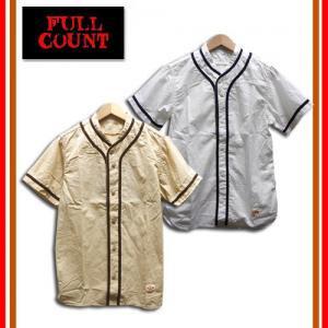 FULL COUNT/フルカウント 4944 STAND COLLAR BASEBALL SHIRTS ベースボールシャツ 半袖 シャツ
