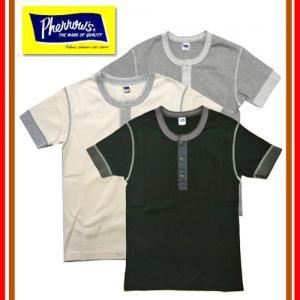 再入荷 PHT ヘンリーネック半袖Tシャツ