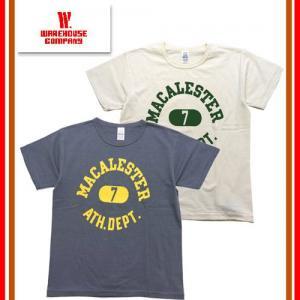 WAREHOUSE ウエアハウス ウェアハウス Lot 4064 「MACALESTER」2ND-HAND SERIES セカンドハンドシリーズ Tシャツ プリント 半袖 TEE セコハン