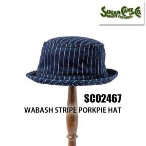 SC02467 WABASH STRIPE PORKPIE HAT