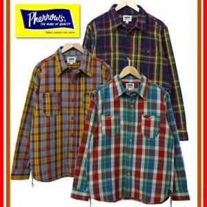 Pherrow's フェローズ 17W-720WS ヘビーネル ネルシャツ チェックシャツ 長袖