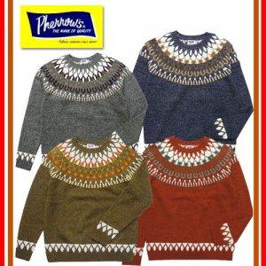 17W-PSFS1 雪柄ジャガードセーター