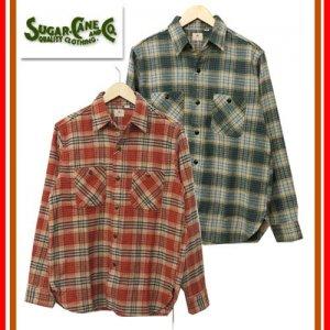 SUGAR CANE シュガーケーン SC27699 「TWILL CHECK WORK SHIRTS」 ツイルチェック ワークシャツ ネルシャツ 長袖