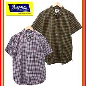 18S-PBDS4 チェックボタンダウンシャツ