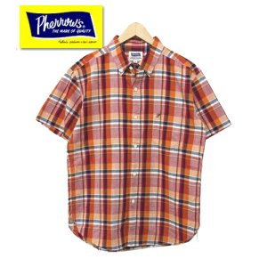 18S-PBDS3 マドラスチェック半袖ボタンダウンシャツ