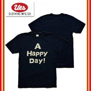 651845 「A HAPPY DAY」 インディゴTシャツ