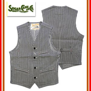 SC14104 「11oz HICKORY STRIPE WORK VEST」