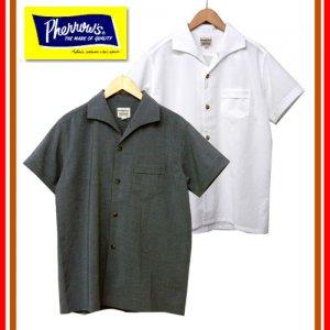 18S-PICS1 イタリアンカラー半袖オープンシャツ