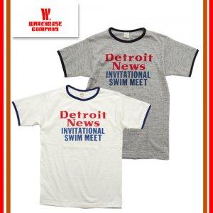 4059 「DETROIT NEWS」 リンガーTシャツ