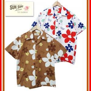 SS37922 by MaskedMarvel 「ABSTRACT FLOWER」コットンライプライターオープンシャツ
