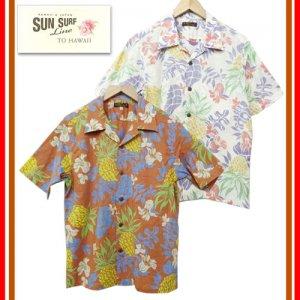 SS37864 「THE GRACE OF ISLAND」 コットンリネンオープンシャツ