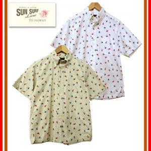 SS34973「HULA DANCER」コットン ボタンダウンシャツ