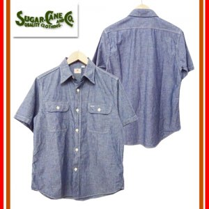 SC37941 BLUE CHAMBRAY S/S WORK SHIRT